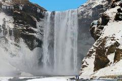 Skogafoss vattenfall, Island Royaltyfri Foto
