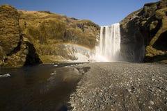 Skogafoss Wasserfall Lizenzfreies Stockfoto