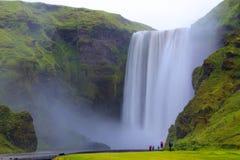 Skogafoss Wasserfall, Island Lizenzfreies Stockfoto