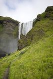 Skogafoss waterfall. In South Iceland Royalty Free Stock Images