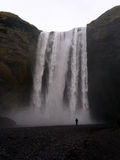 Skogafoss waterfall stock images