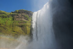 Skogafoss waterfall from below, South Iceland Royalty Free Stock Image