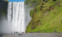 Skogafoss waterfall Royalty Free Stock Photography