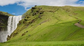 Skogafoss waterfall Stock Photography