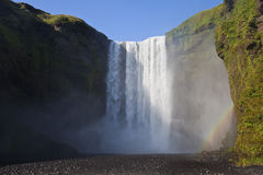 Skogafoss Waterfall In Iceland Royalty Free Stock Photography