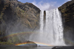 Skogafoss waterfall, Iceland Royalty Free Stock Photo