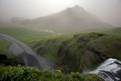 Skogafoss waterfall, Iceland Stock Photography