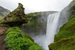 Skogafoss waterfall, Iceland Stock Images