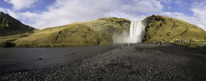 The Skogafoss waterfall Iceland Stock Photo