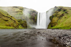 Skogafoss waterfall, Iceland Stock Photos