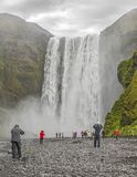 Skogafoss Waterfall in Iceland royalty free stock images