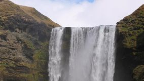 Waterfall in Iceland stock video footage