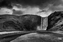Skogafoss waterfall in Iceland Stock Photos