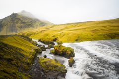 Skogafoss waterfall in the morning, Iceland Royalty Free Stock Photography