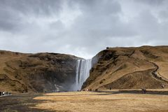 The amazing Skogafoss Waterfall in Iceland stock photography