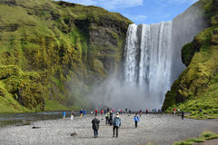 Skogafoss waterfall Royalty Free Stock Images