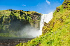 Skogafoss waterfall, South Iceland. Royalty Free Stock Photography