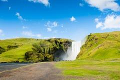 Skogafoss waterfall, South Iceland. Stock Photo
