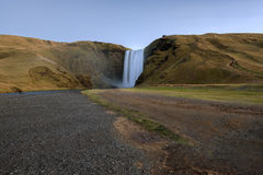 Skogafoss, Waterfall in South of Iceland Stock Images