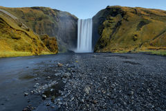 Skogafoss, Waterfall in South of Iceland, nature Stock Photo