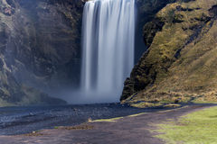 Skogafoss, Waterfall in South of Iceland, nature Stock Photography