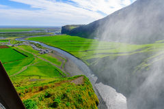 Skogafoss waterfall, in south Iceland Stock Photos