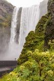 Skogafoss waterfall, southern Iceland Royalty Free Stock Photos