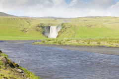 Skogafoss waterlfall iceland in summer Royalty Free Stock Images