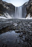 Skogafoss in the Winter in Iceland Royalty Free Stock Photos