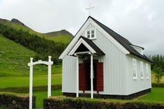 Skogar,冰岛教会  库存照片