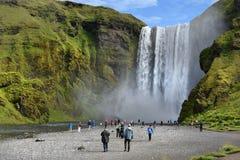 skogar νότιος καταρράκτης της Ισλανδίας skogafoss Στοκ εικόνες με δικαίωμα ελεύθερης χρήσης