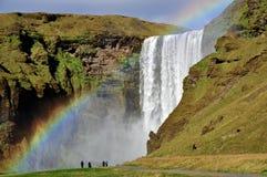 skogar νότιος καταρράκτης της Ισλανδίας skogafoss Στοκ φωτογραφία με δικαίωμα ελεύθερης χρήσης