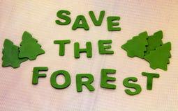 skogar sparar Fotografering för Bildbyråer