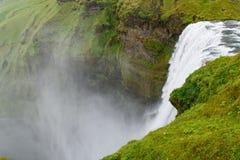 skogar sydlig vattenfall för iceland skogafoss Royaltyfria Bilder
