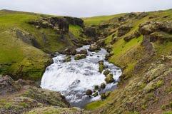 Skogarfoss,majestic waterfall,south of Iceland. Stock Photo