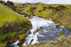 Skogarfoss,majestic waterfall,south of Iceland. Royalty Free Stock Photo