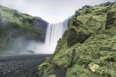 Skogarfoss Wasserfall in Island Lizenzfreie Stockbilder