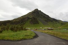 Skogarfoss Waterfall area, Iceland Royalty Free Stock Photo