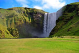 Skogarfoss waterfall in Iceland. Stock Photos