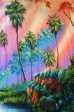 Skogbakgrund Royaltyfri Bild