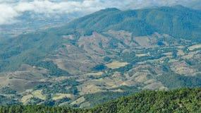 Skogförstörelse i chiangmaien, Thailand Royaltyfri Bild