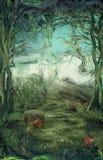 skogglänta stock illustrationer