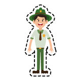 Skogkommandosoldatsymbol Arkivfoton