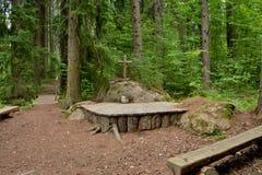 Skogkyrka i Finland Arkivbild