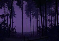 Skoglandskapillustration Royaltyfri Foto