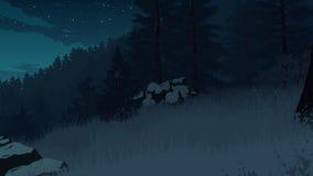 Skoglandskapillustration Arkivfoto