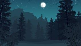 Skoglandskapillustration Arkivfoton