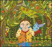 skoglek stock illustrationer