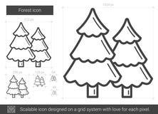 Skoglinje symbol stock illustrationer