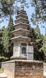 Skogpagoder Talin i den Shaolin kloster Royaltyfri Fotografi